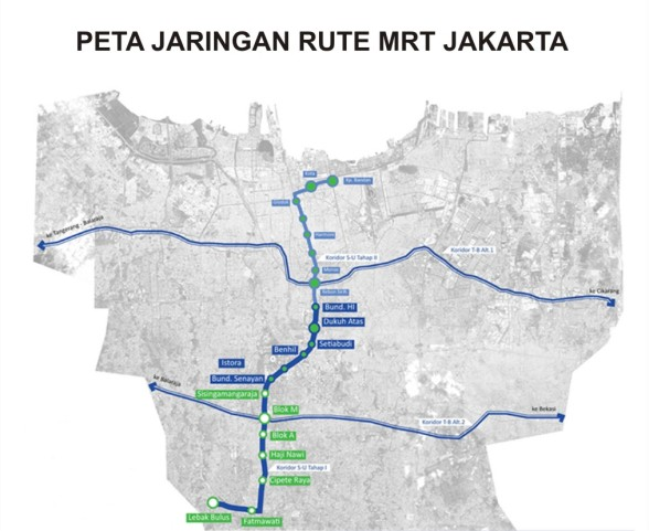 peta rute MRTJ