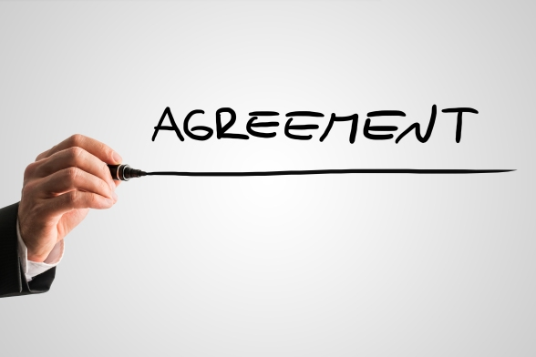 Conceptual image with the word Agreement