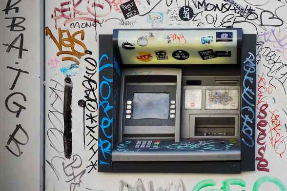 atm dirty machine vandalism